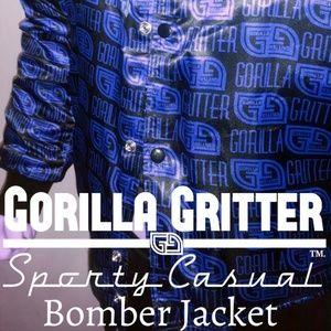 GORILLA GRITTER Satin Bomber Jacket